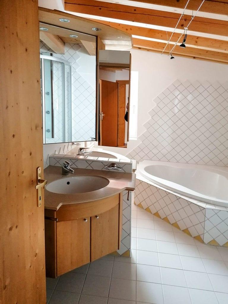 Badezimmer - Ferienwohnung in Obertauern